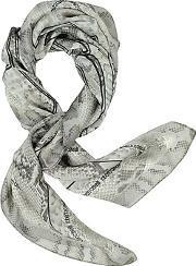 Animal Print Pure Silk Square Scarf