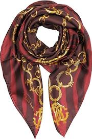 Jewelry Print Twill Silk Square Scarf