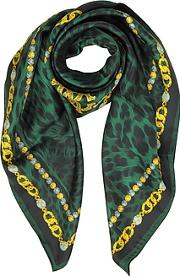 Rc Icon Animal Print Pure Silk Square Scarf