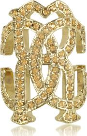 Roberto Cavalli Rings, Rc Icon Light Gold Ring Wcrystals