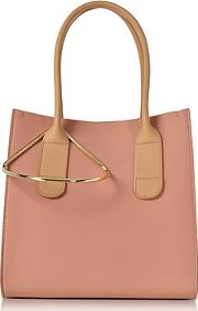 Peach And Mastic Leather Mini Weekend Bag