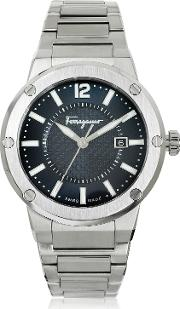 F 80 Silver Tone Stainless Steel Men's Watch