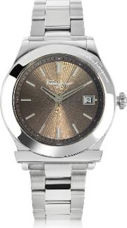 Ferragamo 1898 Silver Tone Stainless Steel Men's Watch