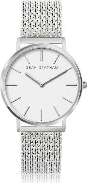 Stainless Steel Unisex Quartz Watch Wwhite Dial