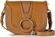 Hana Passito Leather And Suede Crossbody Bag