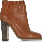 Jane Rust Leather Ankle Boot