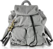 Joy Rider Gray Viscose Backpack