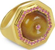 Tiger's Eye Clementina Ring