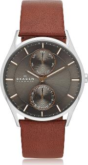 Holst Multifunction Leather Men's Watch