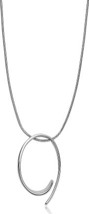 Kariana Silver Tone Curl Pendant Necklace