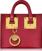 Cherry Red Leather Albion Box Tote Bag
