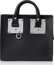 Deep Navy Saddle Leather Box Albion Tote