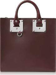 Oxblood Saddle Leather Square Albion Tote