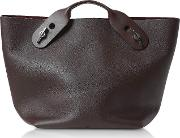 Oxblood Soft Leather Bolt Tote