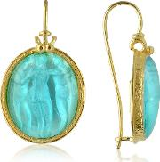 Tagliamonte Cameo, Three Graces 18k Gold Mother Of Pearl Cameo Earrings