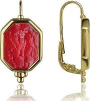 Tagliamonte Earrings, Classics Collection Red 18k Gold Drop Earrings