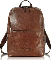 Marrone Leather Men's Backpack