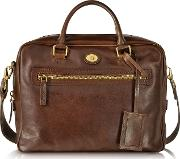 Story Uomo Dark  Leather Briefcase