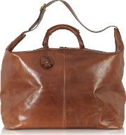 Story Viaggio Marrone Leather Weekender Bag