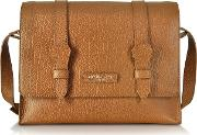 Embossed Leather Messenger