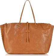 Mahe Cognac Leather Large Tote