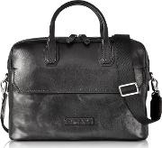 Williamsburg Black Leather Medium Briefcase Wshoulder Strap