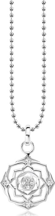 Crown Chakra Sterling Silver Necklace Wwhite Zirconia