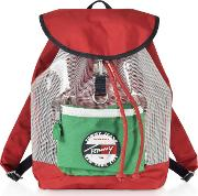 The Heritage Red Nylon Backpack