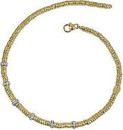 Rondelle Moving Big 18k Yellow Gold And Diamond Necklace