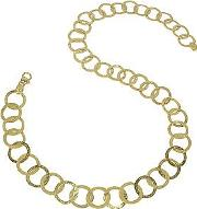 Tuscania 18k Yellow Gold Large Chiselled Chain