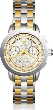 Tbw1034 The Tory Two Tone Chronograph Women's Watch