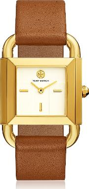 Tbw7200 The Phipps Luggage Leather Women's Watch