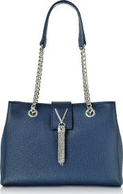 Small Lizard Embossed Eco Leather Divina Tote Bag