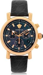 Black And Gold Women's Chronograph Watch