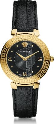 Daphnis Black And Pvd Gold Plated Women's Watch Wgreek Engraving