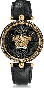 Palazzo Empire Black And Pvd Plated Gold Women's Watch W3d Medusa