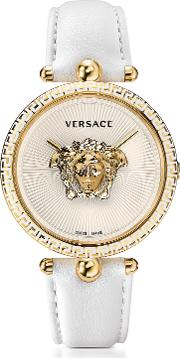 Palazzo Empire White And Pvd Plated Gold Women's Watch W3d Medusa