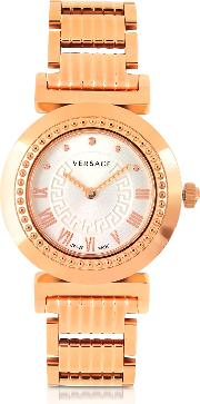 Versace Women's Watches, Vanity Lady Rose Gold Stainless Steel Women's Watch