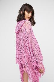 Summer Breeze Hooded Poncho By  At Free People