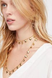 Twirl Me Charm Layered Necklace By  At Free People