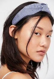 Gingham Knotted Headband By