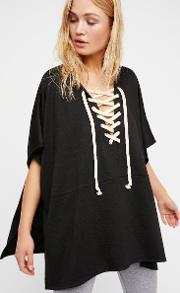 Power Play Hooded Poncho