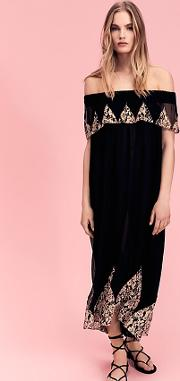 Antique Lace High Low Maxi Dress By  At Free People