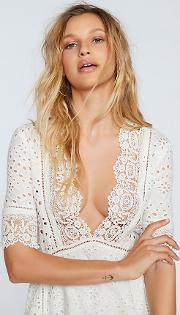 Eyelet Flare Dress By  At Free People