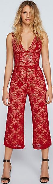 Fleur Lace Jumpsuit By  At Free People