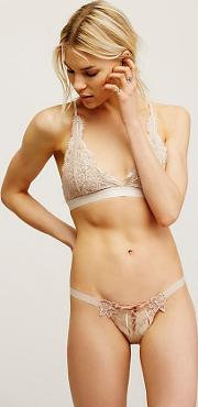 Lace Me Up Thong By  At Free People