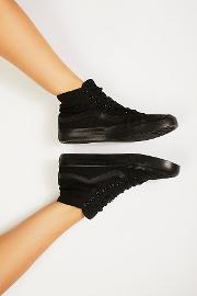 Sk8 Slim Glitter High Top Sneakers By  At Free People
