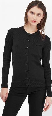 Dainty Lace Button Through Cardigan
