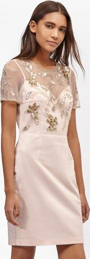 Horizon Light Embellished Dress Jasmine Pink