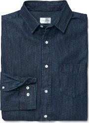 Indigo Denim Shirt Mid Blue